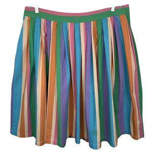 MODCLOTH Skirt 1X Womens Pastel Stripe Knee Length
